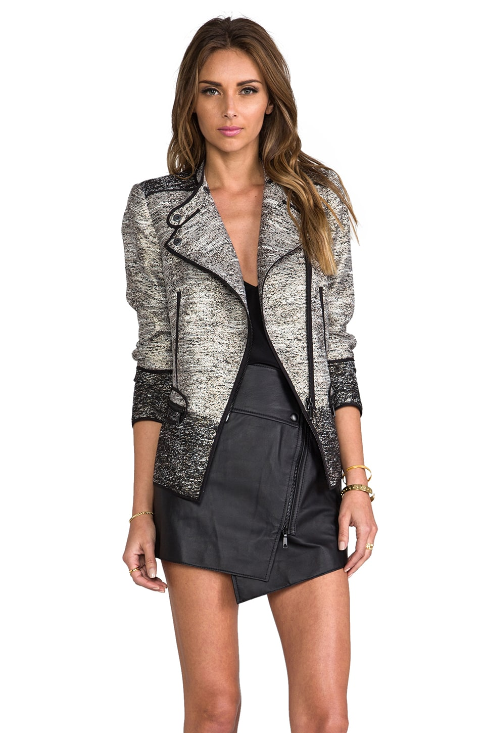 RACHEL ZOE Davenport Jacket in Metallic Multi