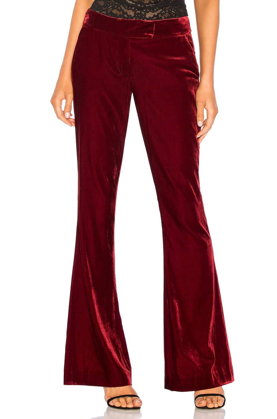 RACHEL ZOE Hall Pant in Ruby