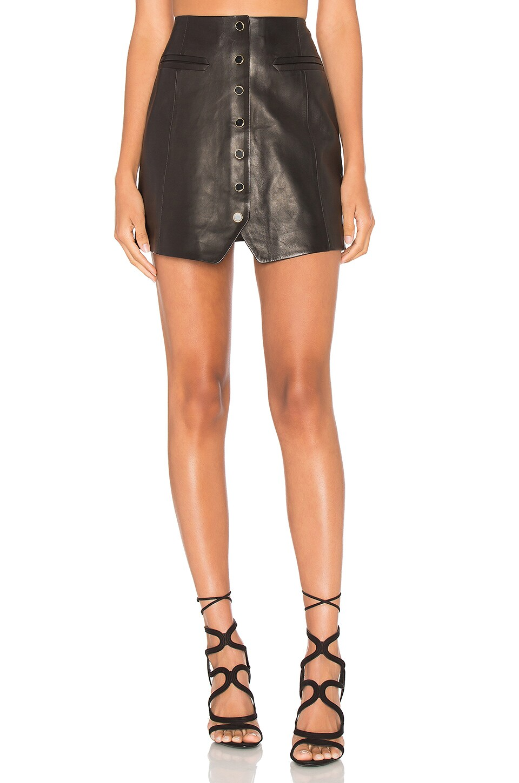 RACHEL ZOE Danae Leather Skirt in Black