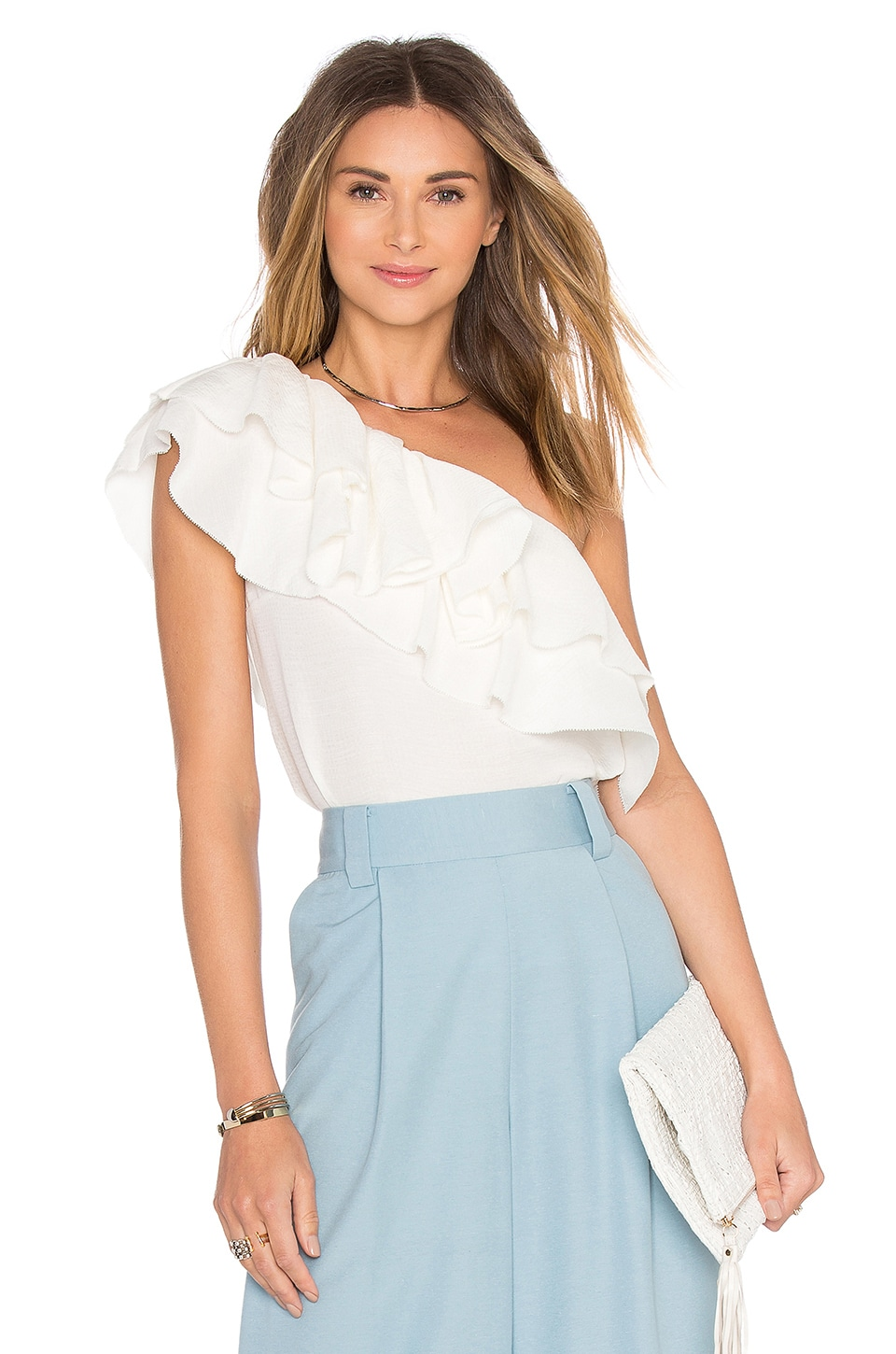 RACHEL ZOE Moe Top in Ecru