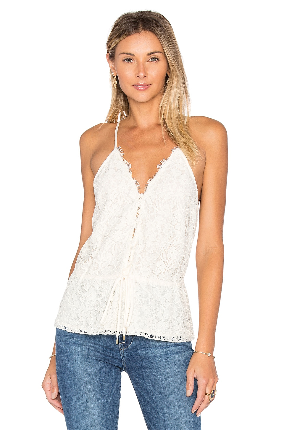 RACHEL ZOE Nadalyn Lace Tank in Ecru