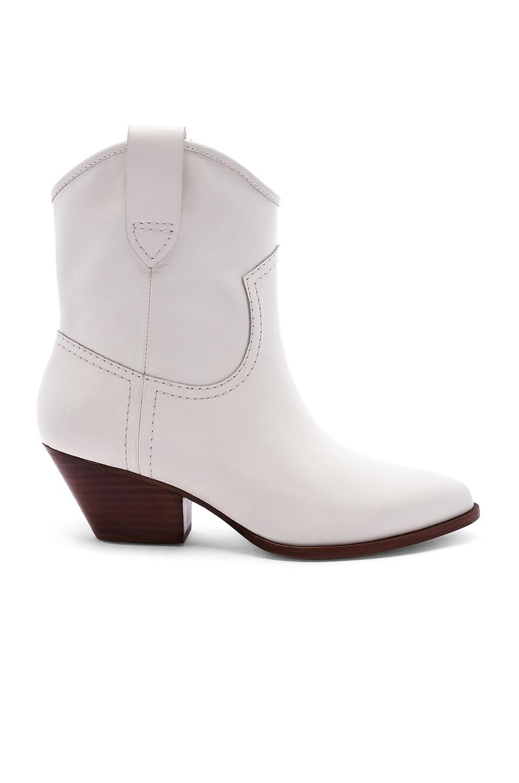 RACHEL ZOE Women'S Cameron Western Booties in White