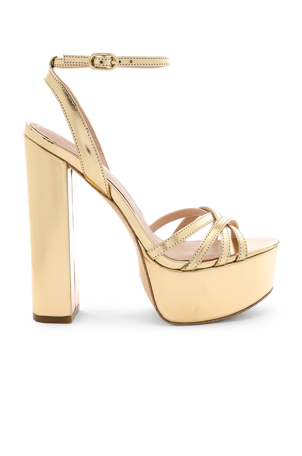 RACHEL ZOE Charlotte Platform Sandal in Light Gold