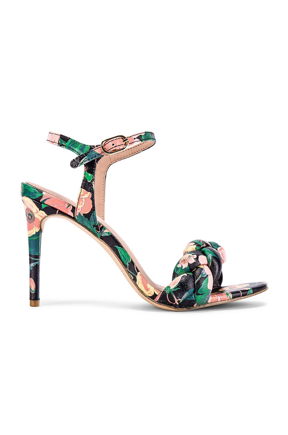 RACHEL ZOE Kelly Braid Sandal in Black Floral