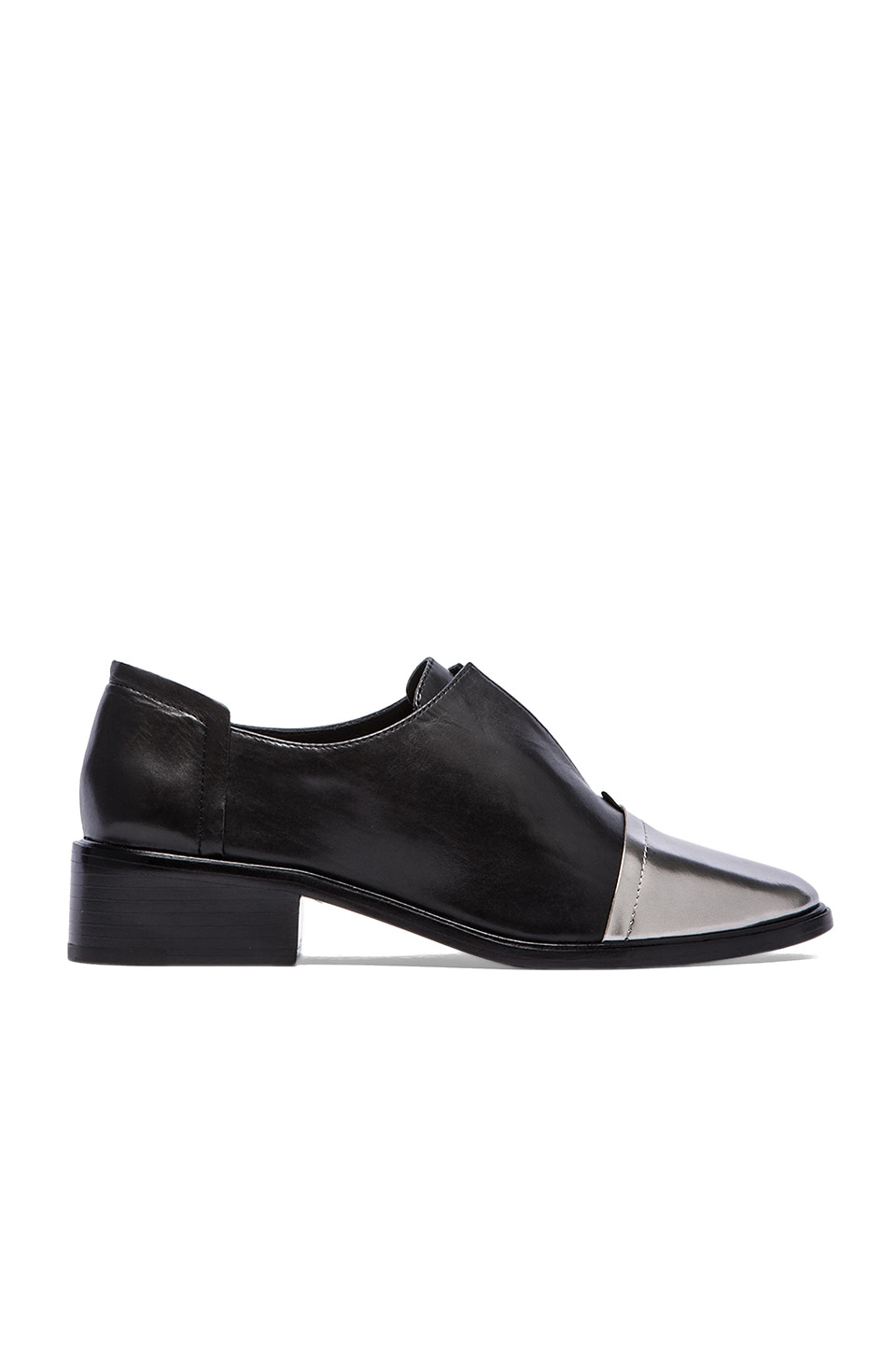 RACHEL ZOE Raven Oxford in Black & Alluminum
