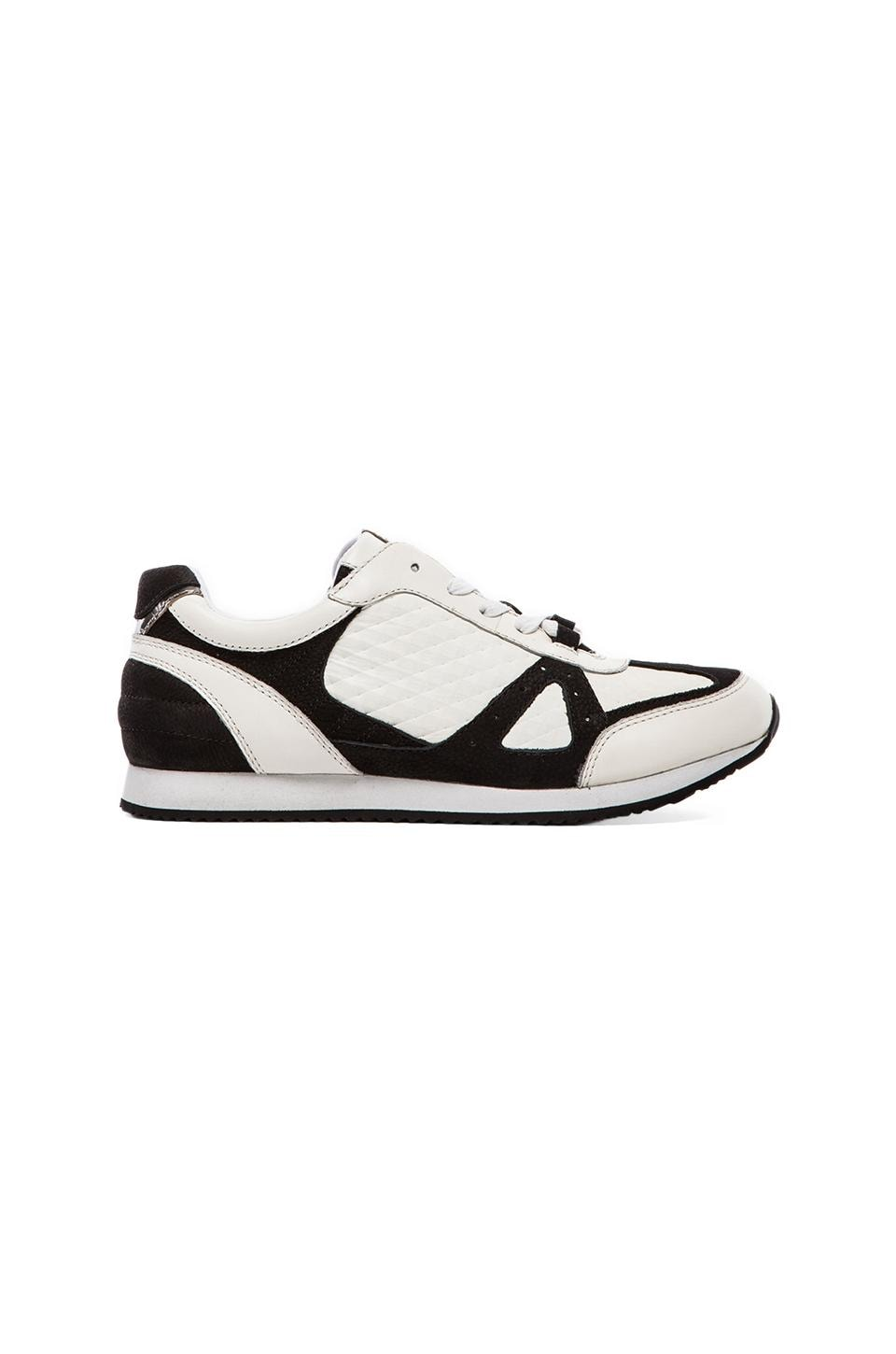 RACHEL ZOE Jeni Sneaker in White/Black