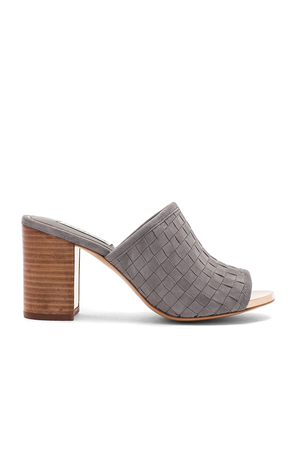 RACHEL ZOE Giordana Mule in Grey Kid Suede