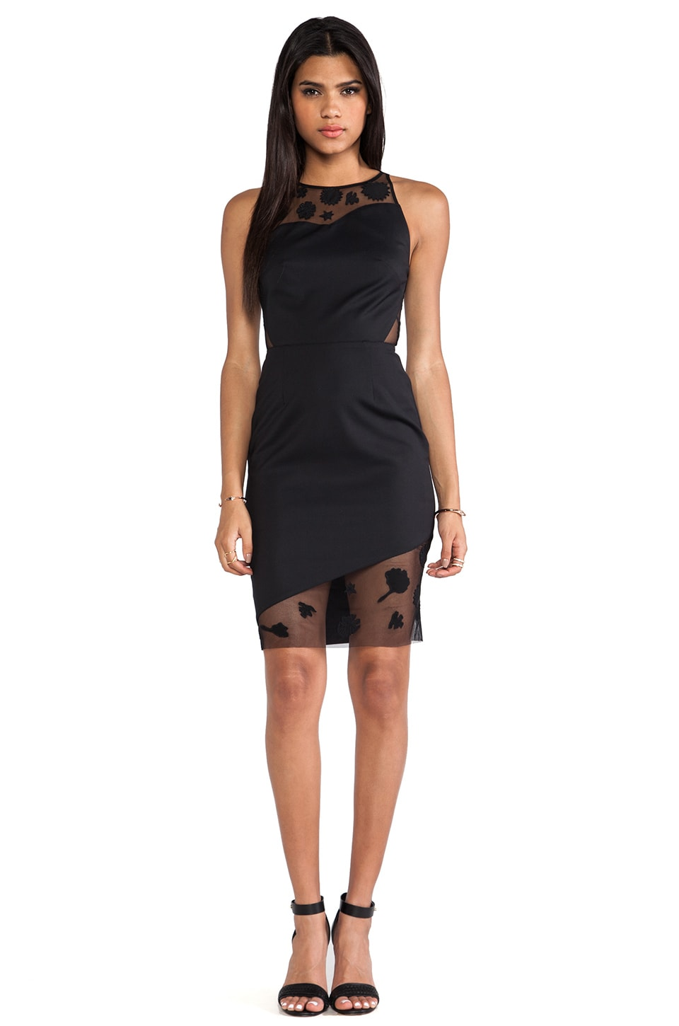 Sachin & Babi Clover Dress in Black Dahlia