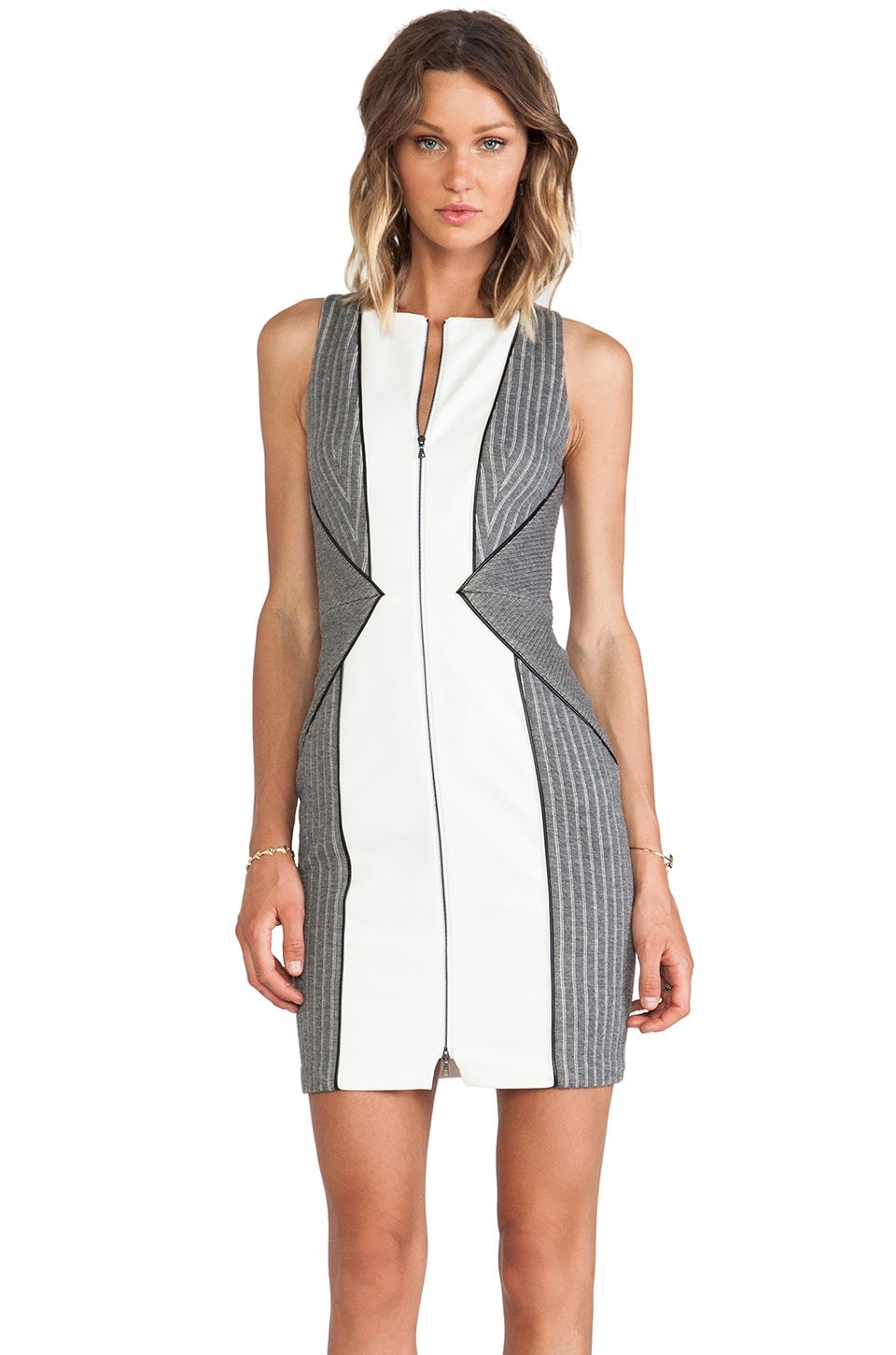 Sachin & Babi Alley Dress in Ash Stripe