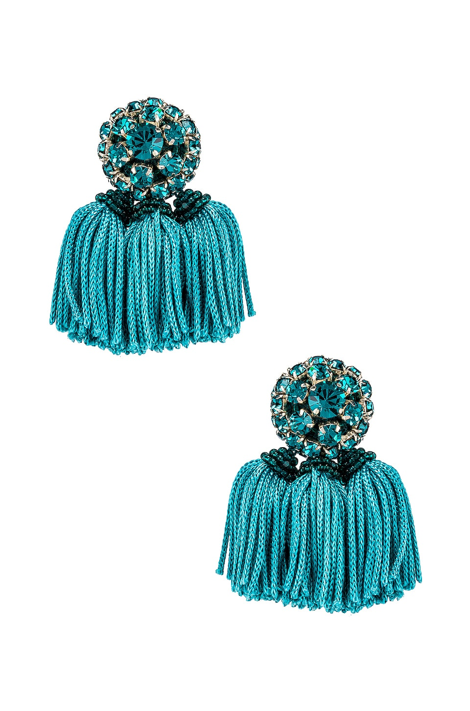 Sachin & Babi Crystal Cha Cha Earrings in Teal
