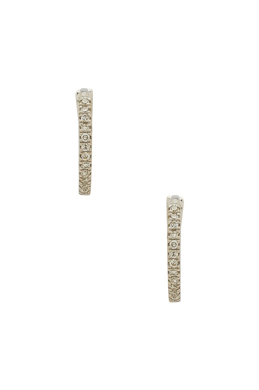 Sachi White Gold Mini Huggies in White Gold