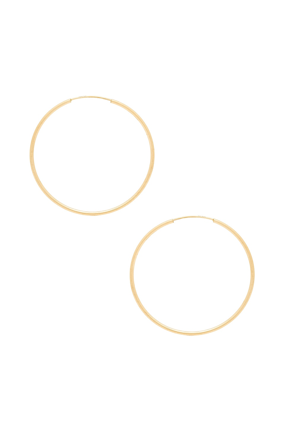 Sachi Infinity Hoops in Yellow Gold