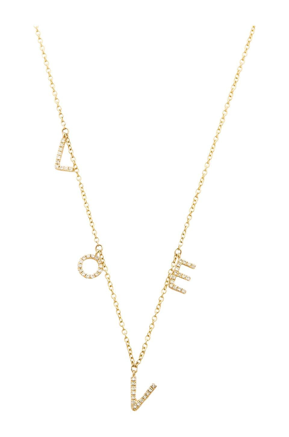 Sachi LOVE Diamond Necklace in Gold