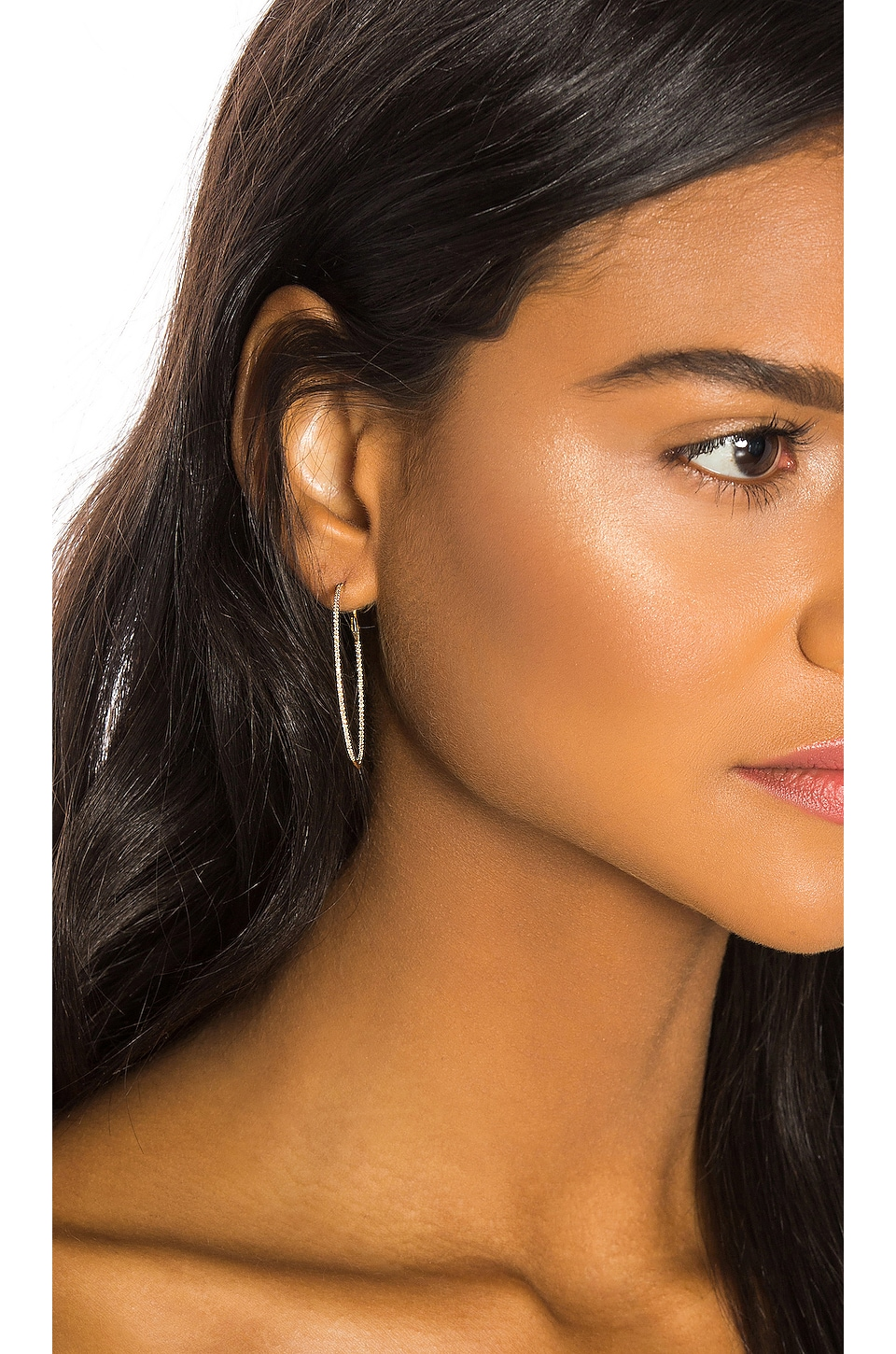 Sachi Large Diamond Hoops in Gold