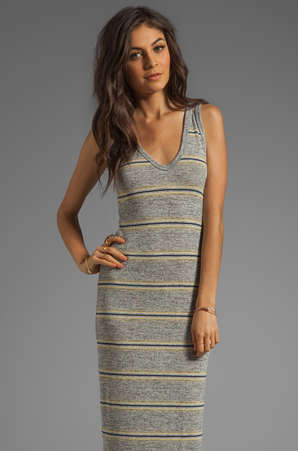 Saint Grace Ciaro V Maxi Dress in Lemon