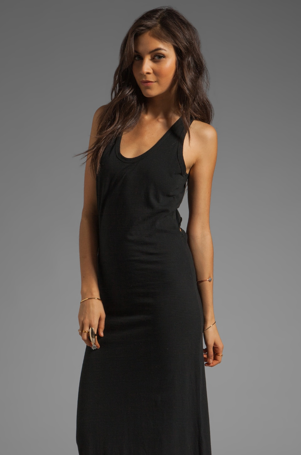 Saint Grace Reiko Contrast Maxi Dress in Black