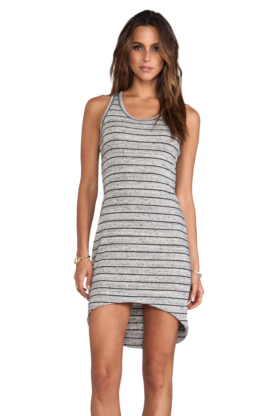 Saint Grace Jo Moby Stripe Dress in Storm & Black