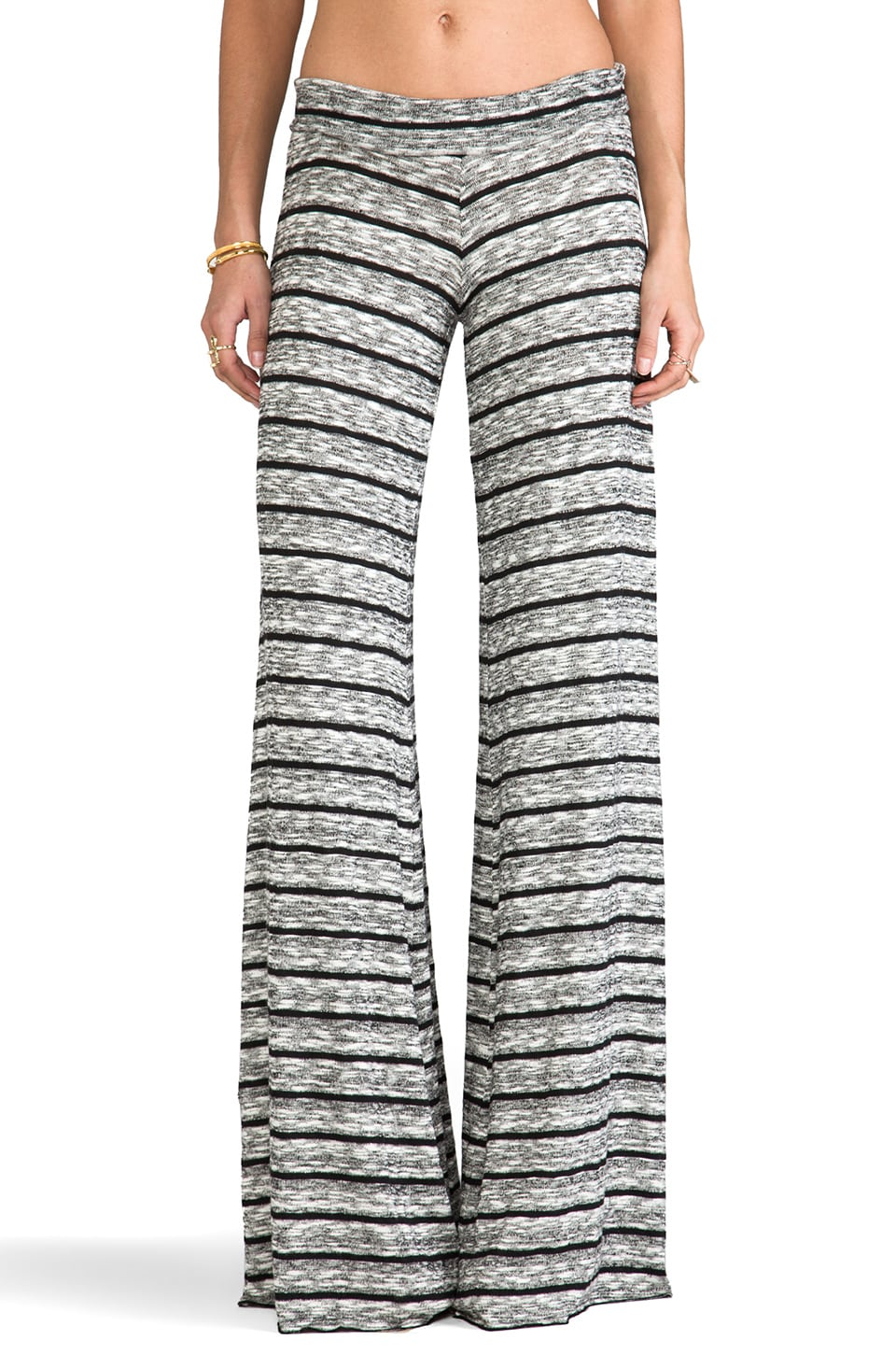 Saint Grace Wide Pant in Black Stripe