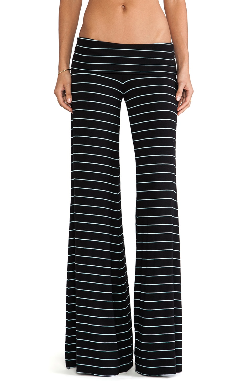 Saint Grace Carol Moby Stripe Pant in Black & Icee