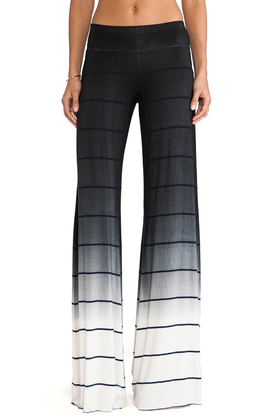 Saint Grace Wide Pant Ombre Stripe in Black OW