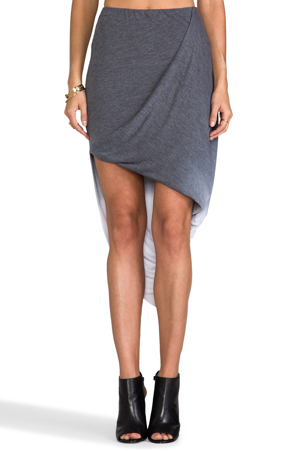 Saint Grace Caden Twisted Ombre Skirt in Black Ombre