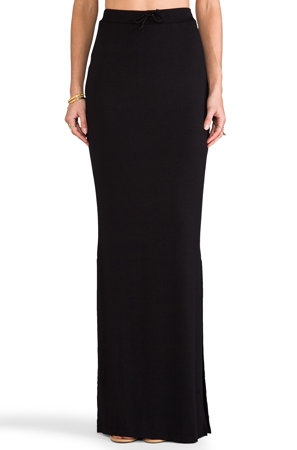 Saint Grace Fern Maxi Skirt in Black