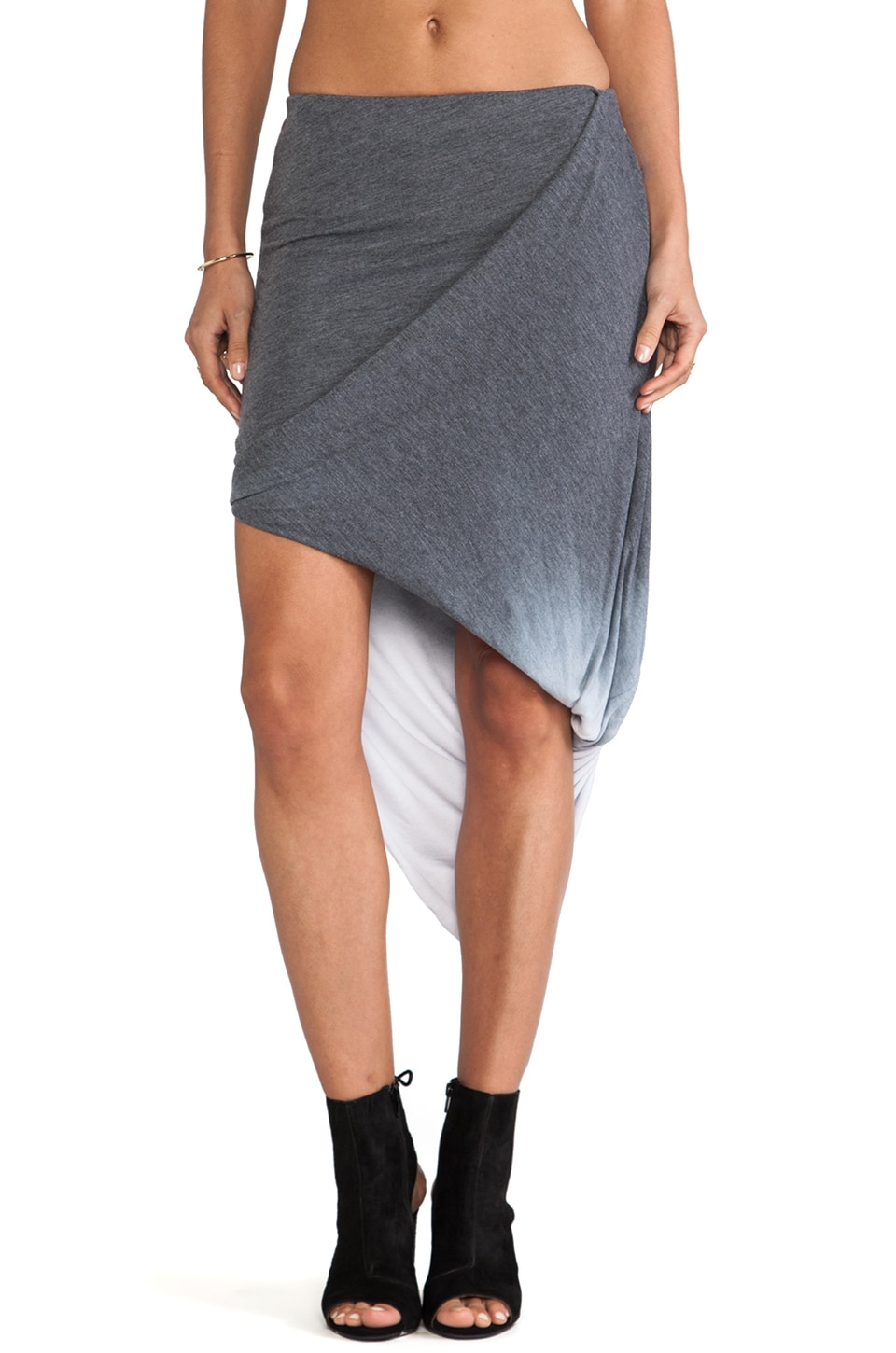 Saint Grace Caden Rayon Jersey Skirt in Black OW