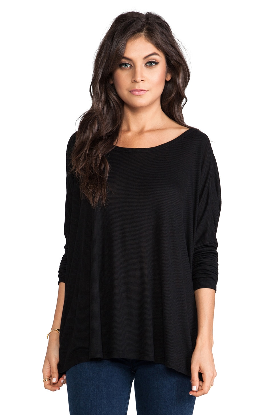 Saint Grace Omega Oversized Top in Black
