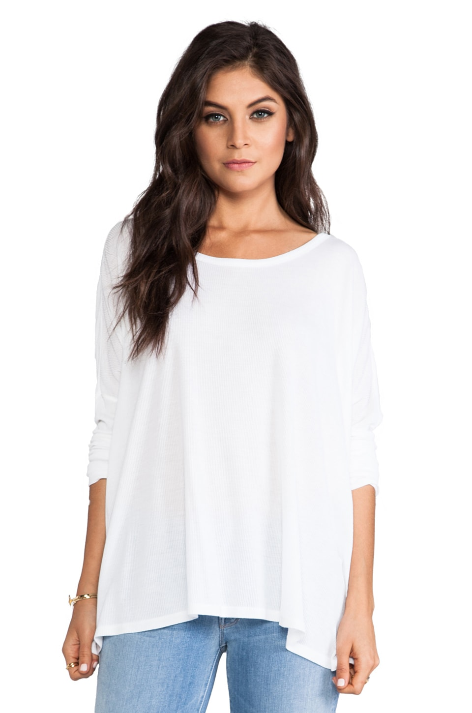 Saint Grace Omega Oversized Top in White