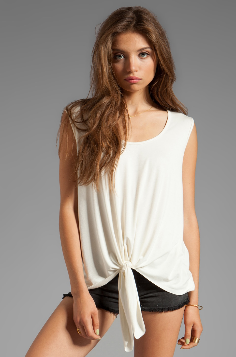 Saint Grace Peri Knot Tank in Cream
