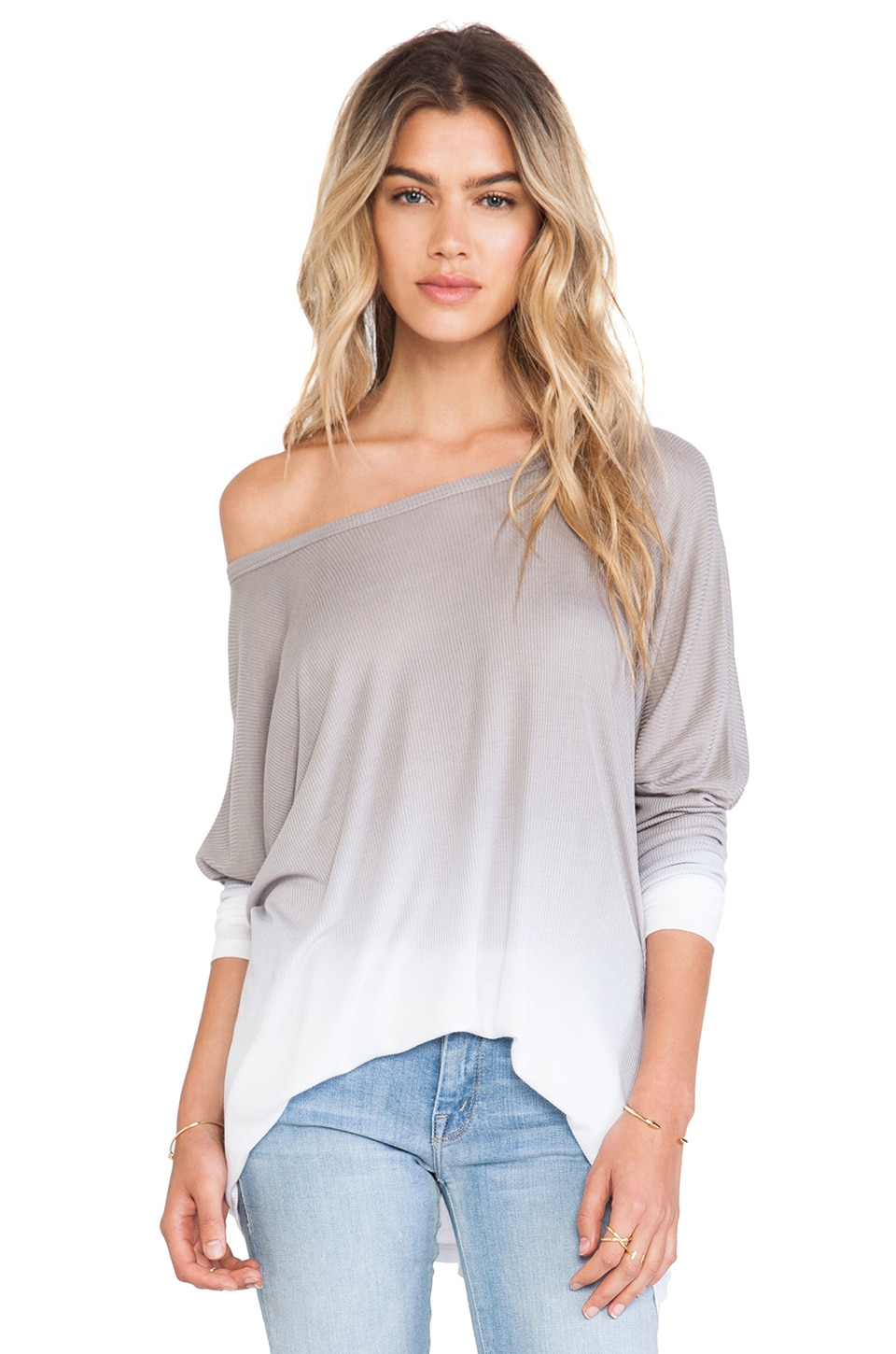 Saint Grace Saint Omega Oversized Top in Pewter Ombre