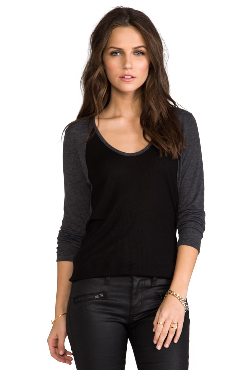 Saint Grace Alexi Contrast Raglan in Black