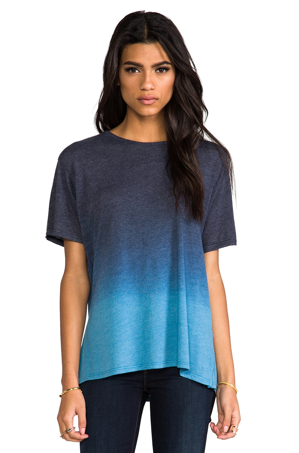 Saint Grace Carson Oversized Tee in Liberty & Kodiak Ombre