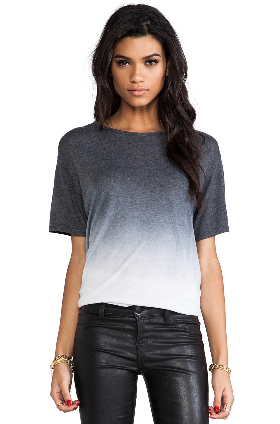 Saint Grace Carson Oversized Tee in Black Ombre