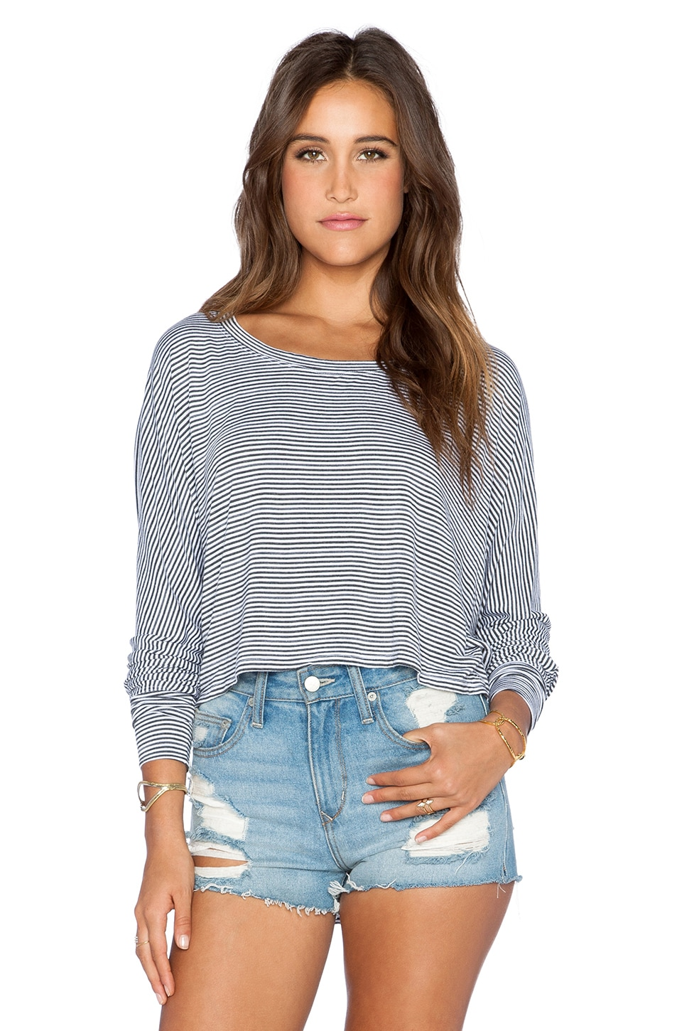 Saint Grace Shirttail Crop Top in White