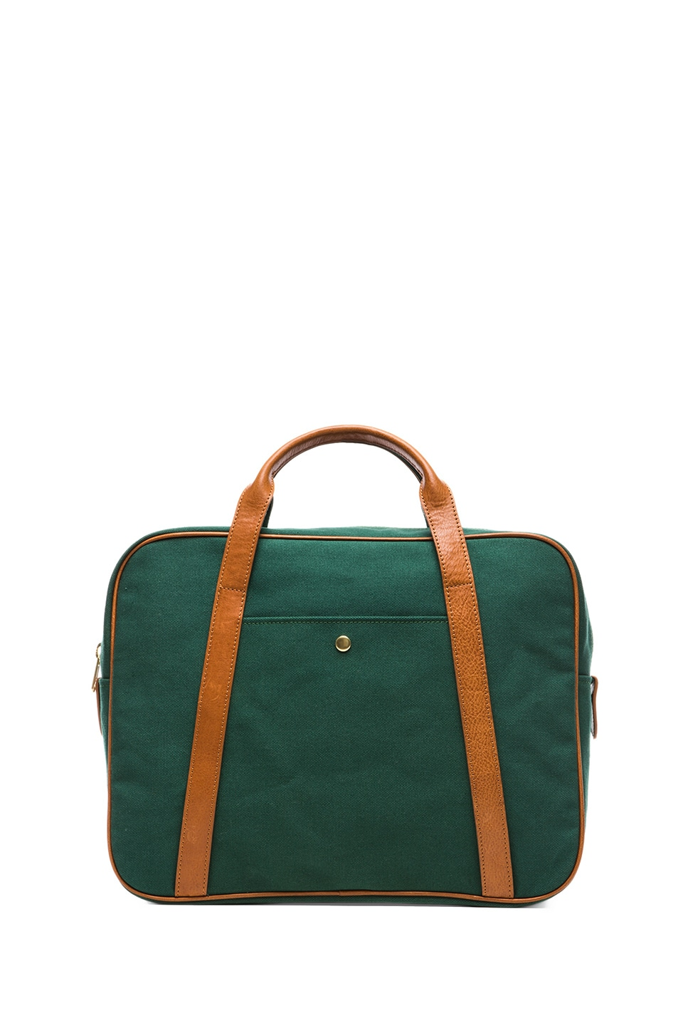 Steven Alan Canvas Briefcase in Forest Green
