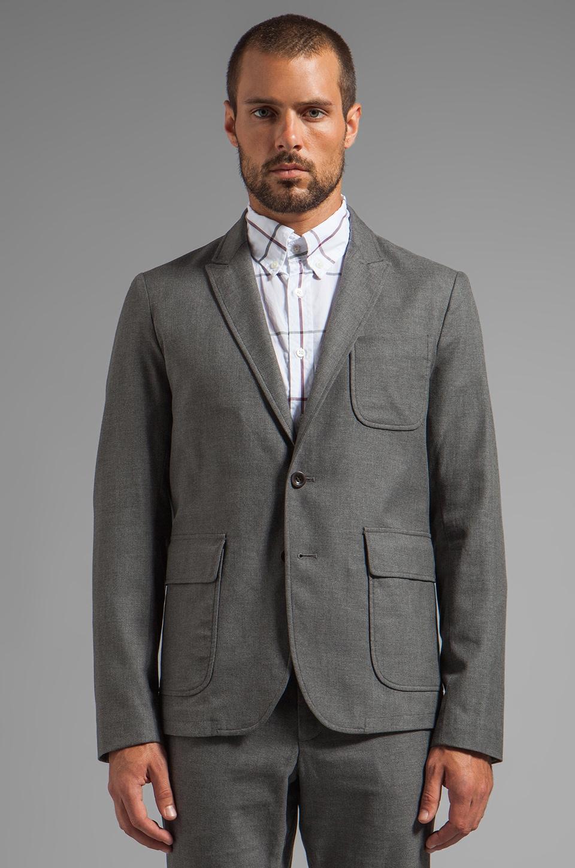 Steven Alan Iago Blazer in Grey Twill