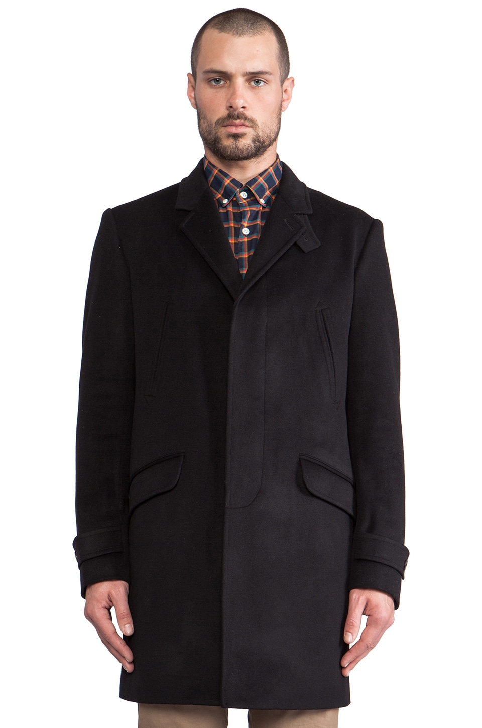 Steven Alan Bertrand Topcoat in Black