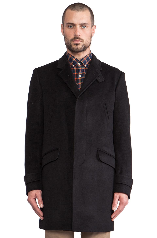 Steven Alan Bertrand Topcoat in Black