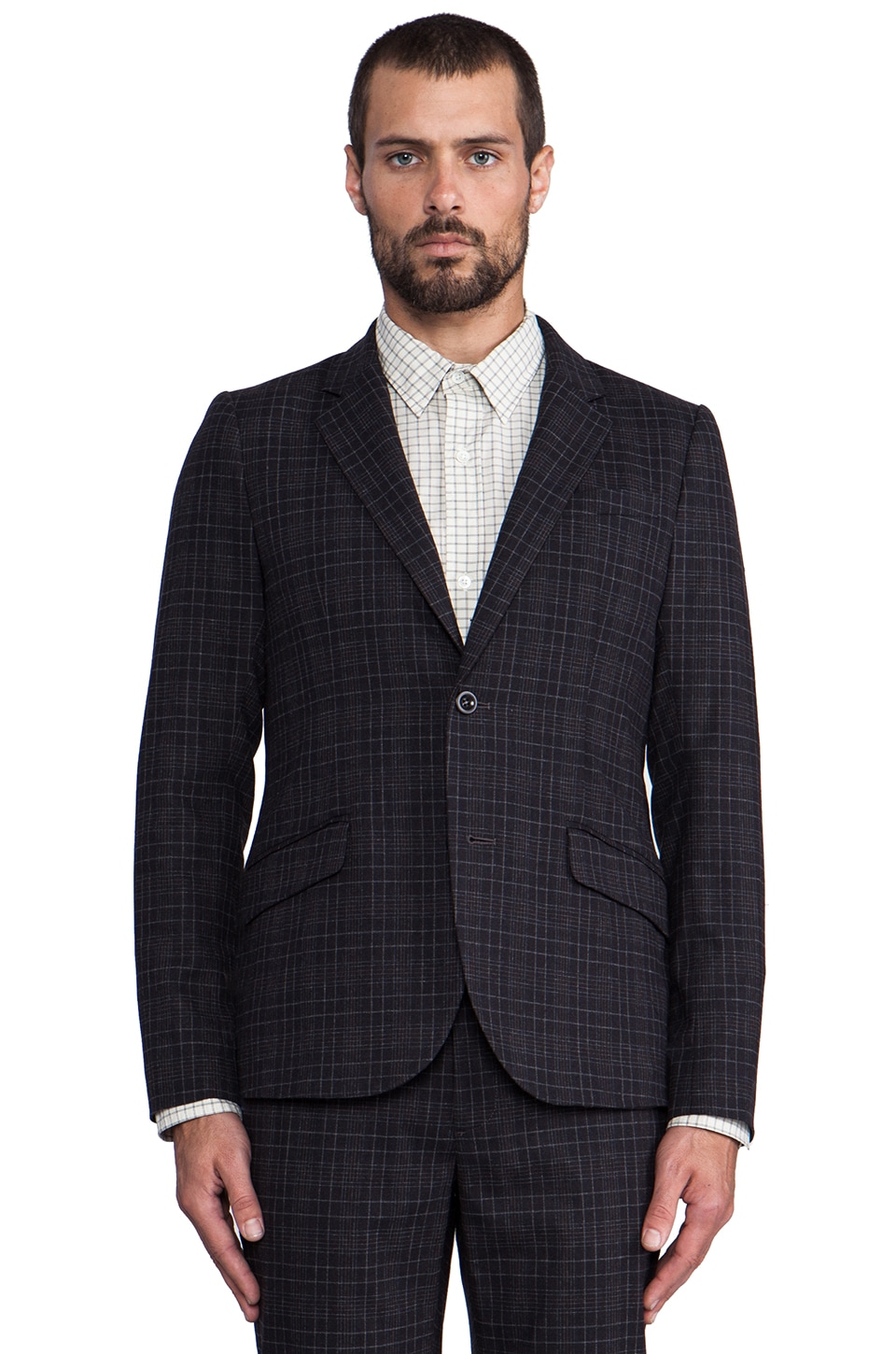 Steven Alan Fenton Suit Jacket in Chagln Plaid