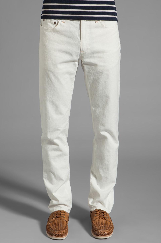 Steven Alan Classic 5 Pocket Pant in Off-White