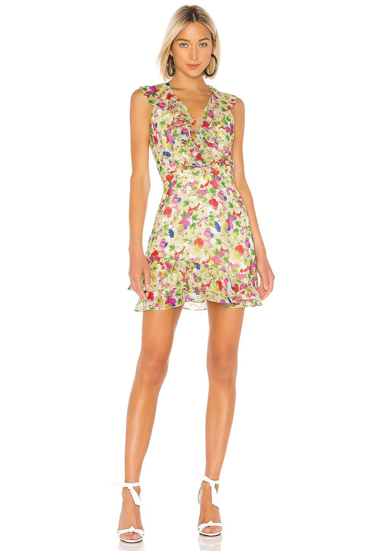 SALONI Cece Dress in Lemon Poppies