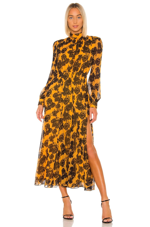 SALONI Jacqui Gown in Saffron Rosa