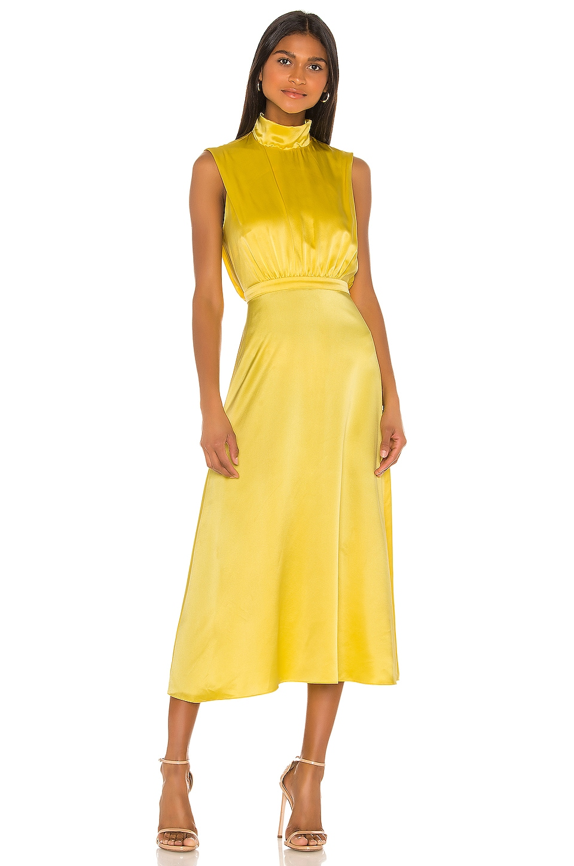 SALONI Fleur Dress in Bright Lemon