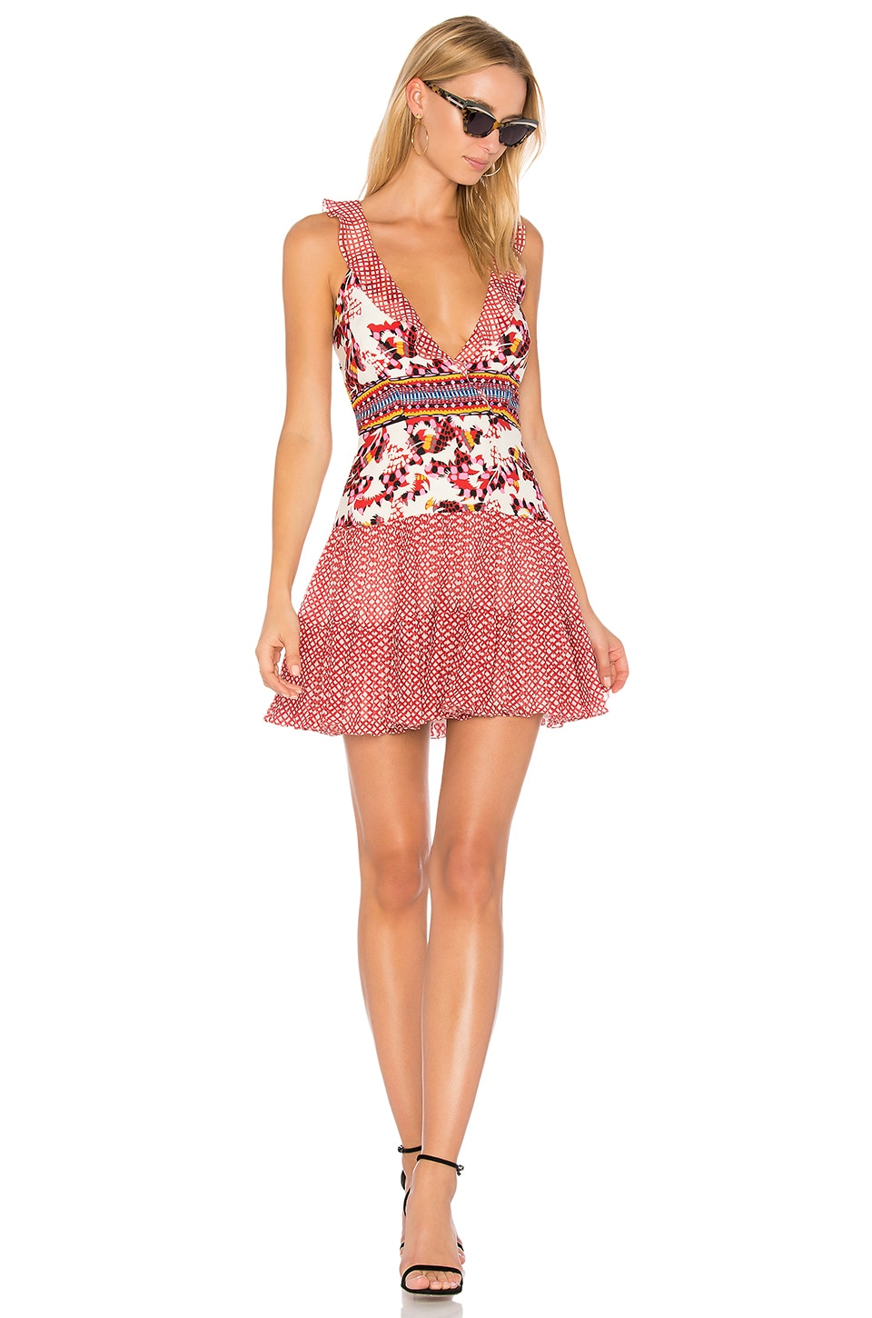 SALONI Amy Mini Dress in Gingham Mural