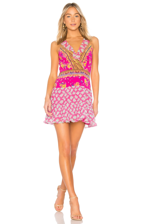 SALONI Amy Short Dress in Shocking Pink Plmt
