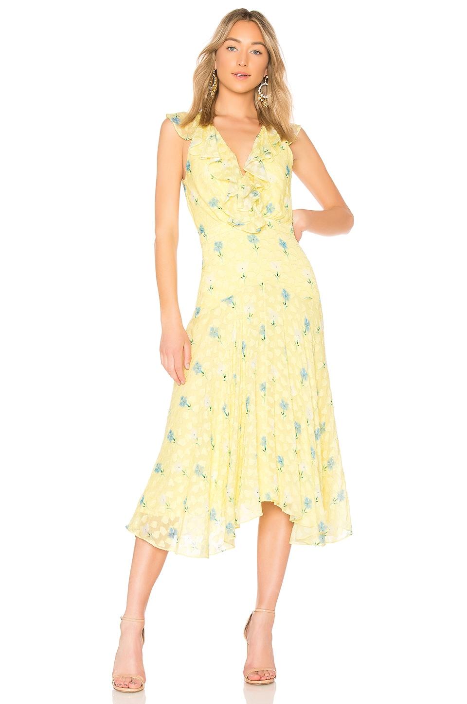 SALONI Rita Short Dress in Sherbet Carnation