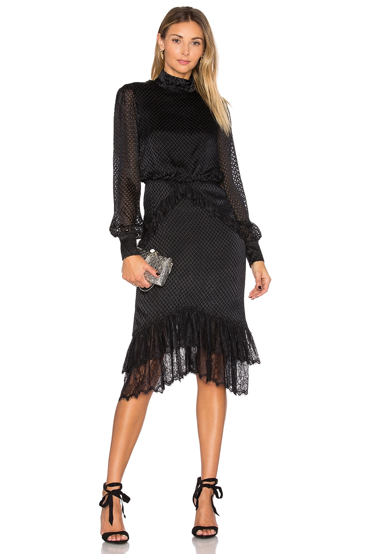 Isa Silk Short Dress by SALONI