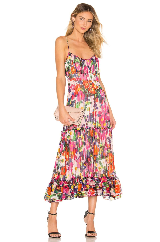 SALONI Bella Dress in Pink Rosette