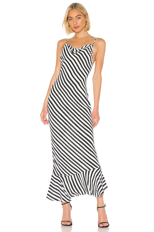 SALONI Stella Dress in Brushstroke Stripes